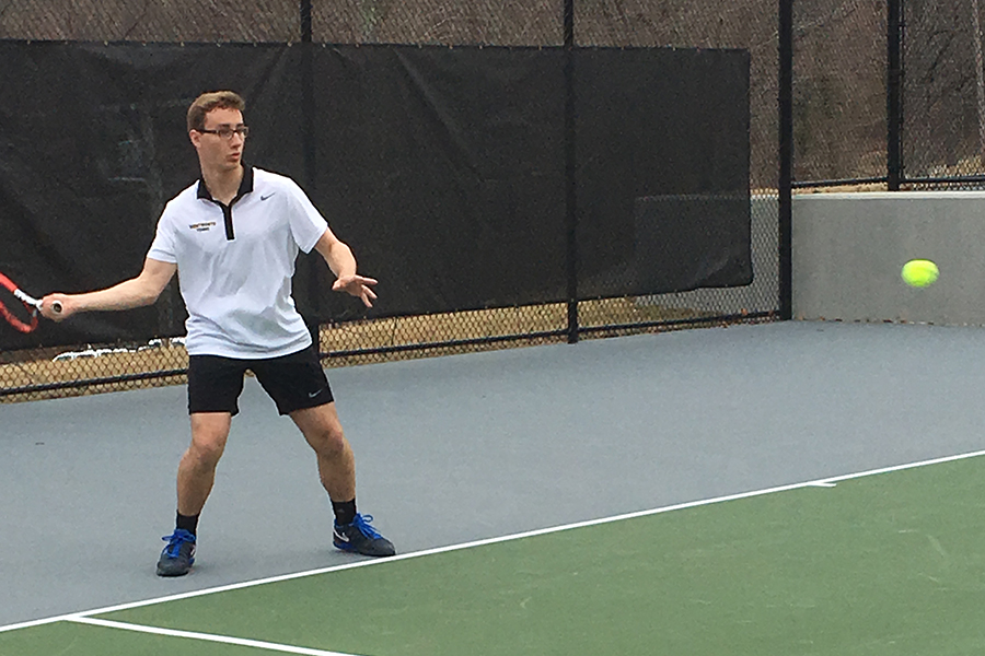 Men's Tennis Suffers First Spring Loss