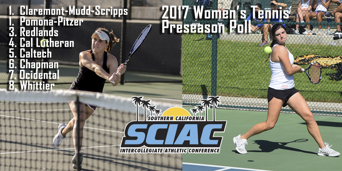 Claremont-Mudd-Scripps, Pomona-Pitzer Named Favorites in SCIAC Women's Tennis Coaches' Preseason Poll