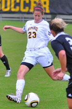 Sarah Purdum recorded her first career assist against UNH.