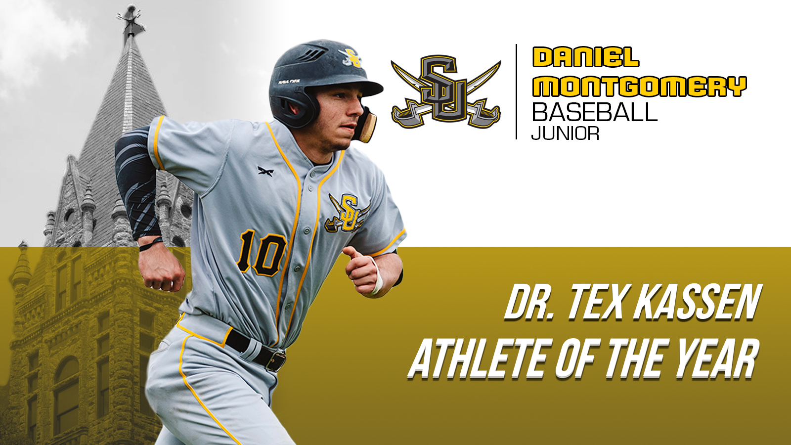Daniel Montgomery Jr. Named Southwestern University Dr. Tex Kassen Male Athlete of the Year