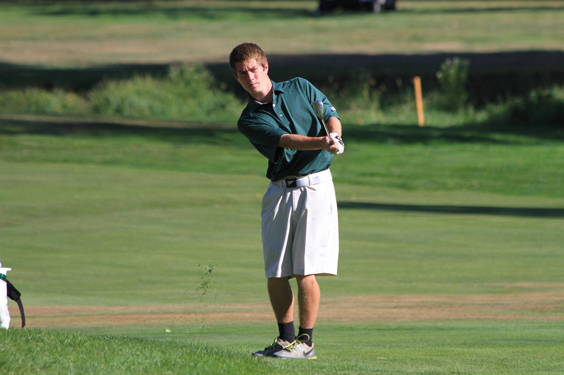 Men's Golf 16th After 18 Holes At Williams Invitational