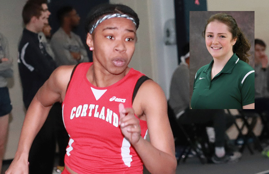 SUNYAC names Cortland's Hunter and Brockport's Craven as Women's Track and Field Athletes of the Week