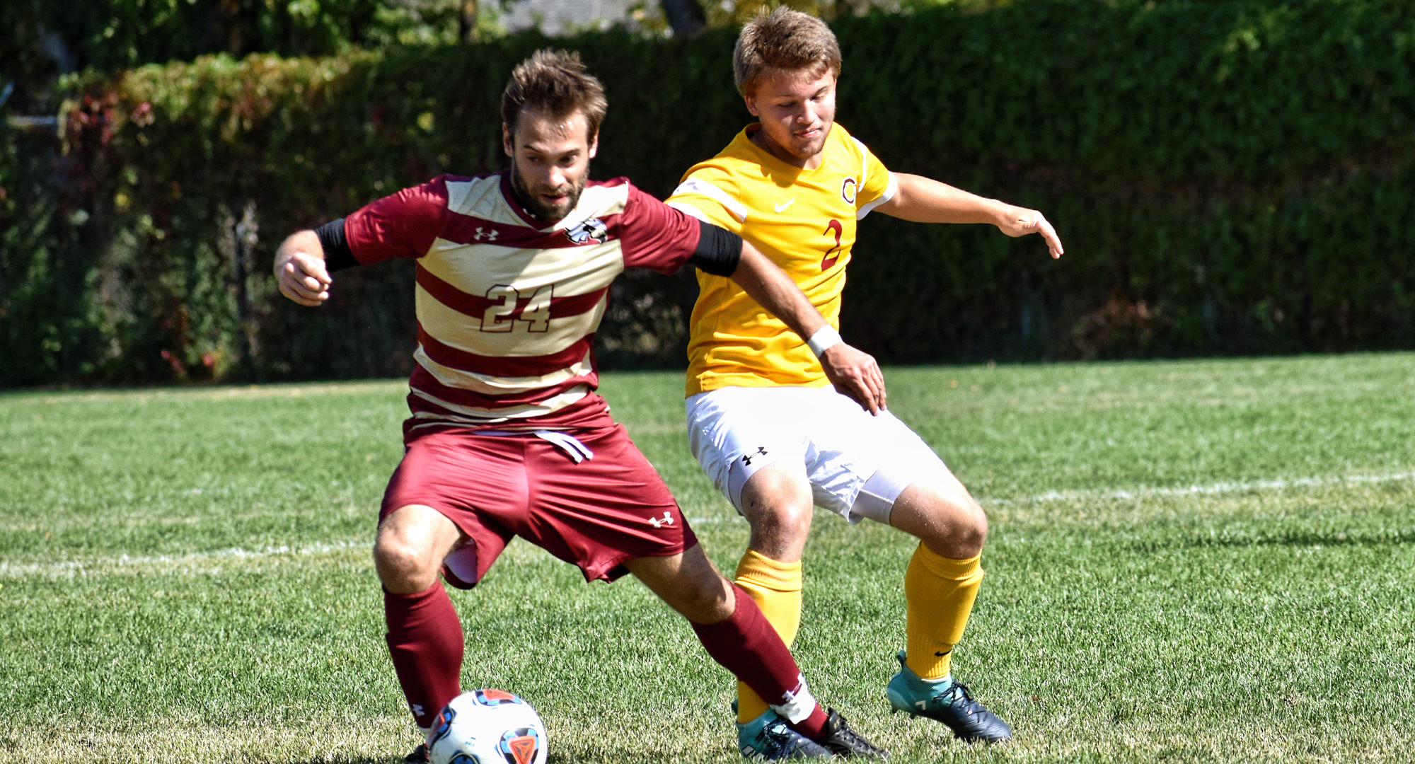 Junior Spencer Lancaster had the lone goal in the Cobbers 3-1 loss to No.21-ranked Macalester.