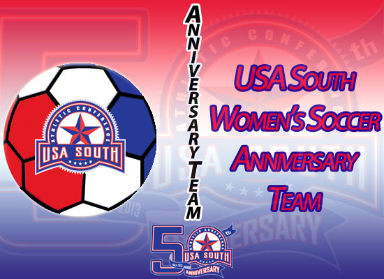 USA South Announces 50th Anniversary Women's Soccer Team