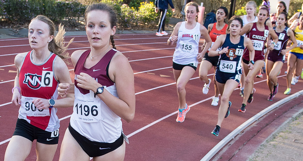 Jamie Ferris is scheduled for the women's 5,000-meter race Saturday in San Francisco.