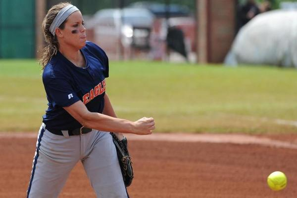Lady Eagles take out frustrations on Belmont Abbey in sweep, 8-0 and 7-2