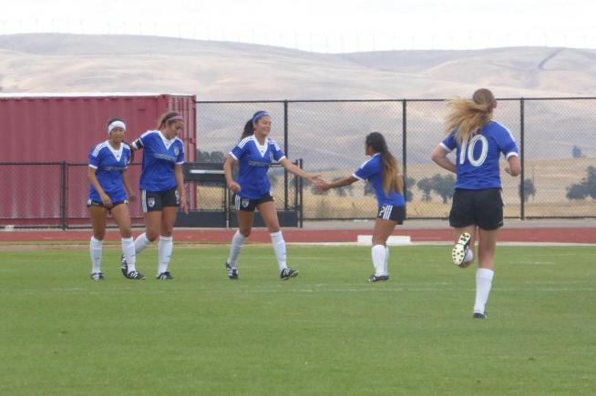 File Photo: The women's soccer team scored late to secure a 1-1 tie