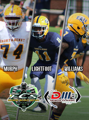 Three Emory & Henry Football Seniors To Play In Senior Bowl Games Saturday