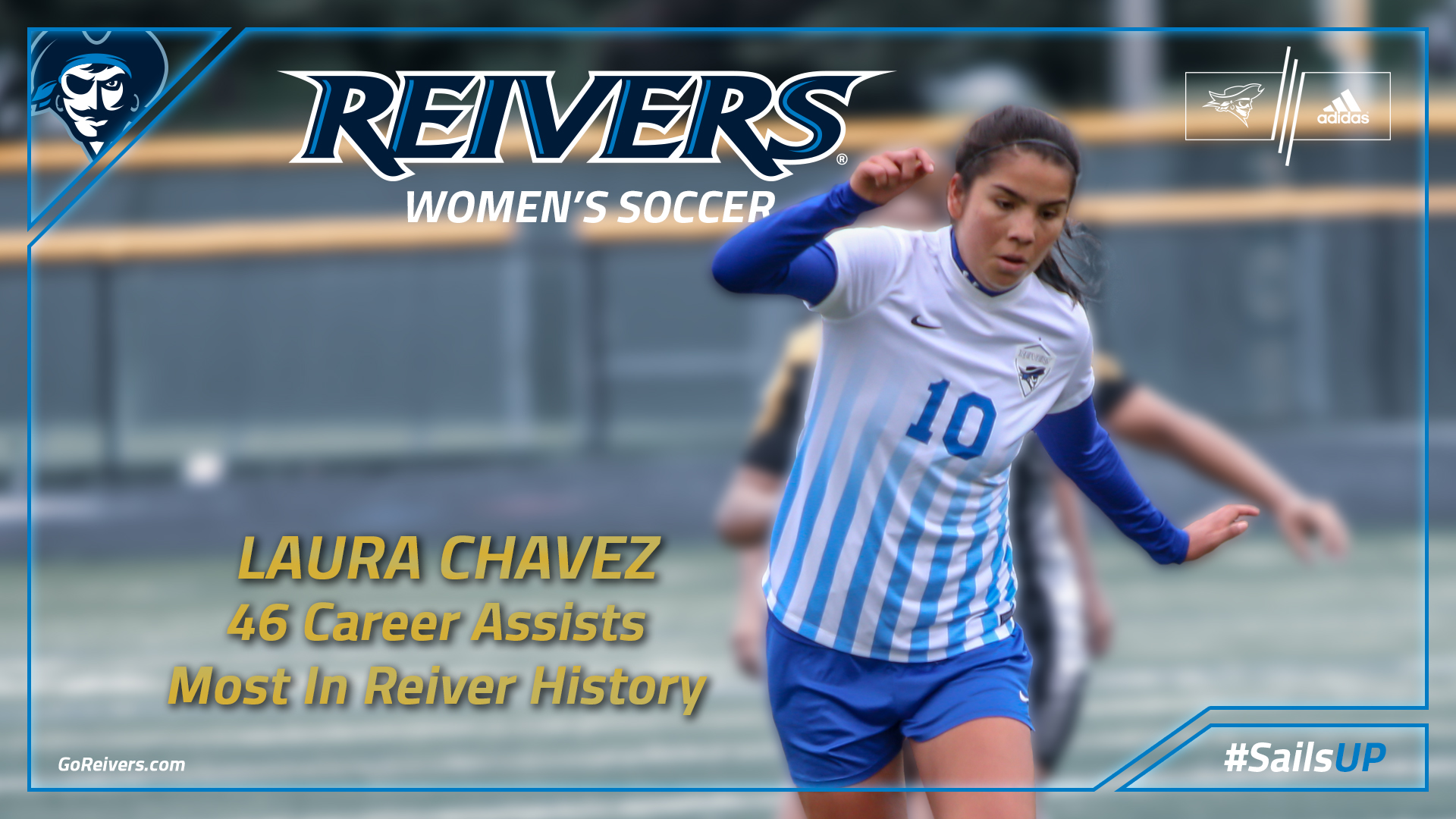 Happy to help, Reiver Women's Soccer has new season and career record holder for assists in Chavez!