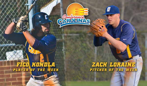 Coker's Kondla, Loraine Sweep Weekly Conference Awards