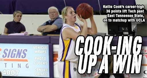 Kellie Cook's career-performance lifts Tech to season-opening WNIT win