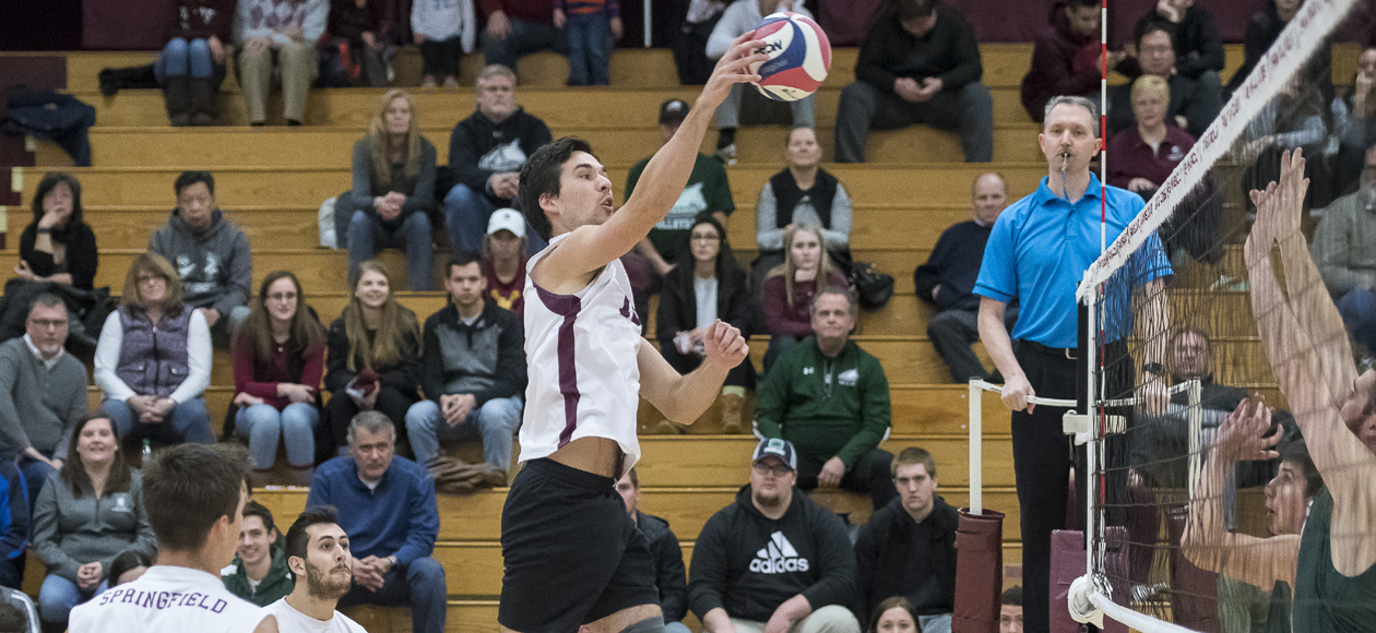 Top-Ranked Men's Volleyball Bests Elms, 3-0