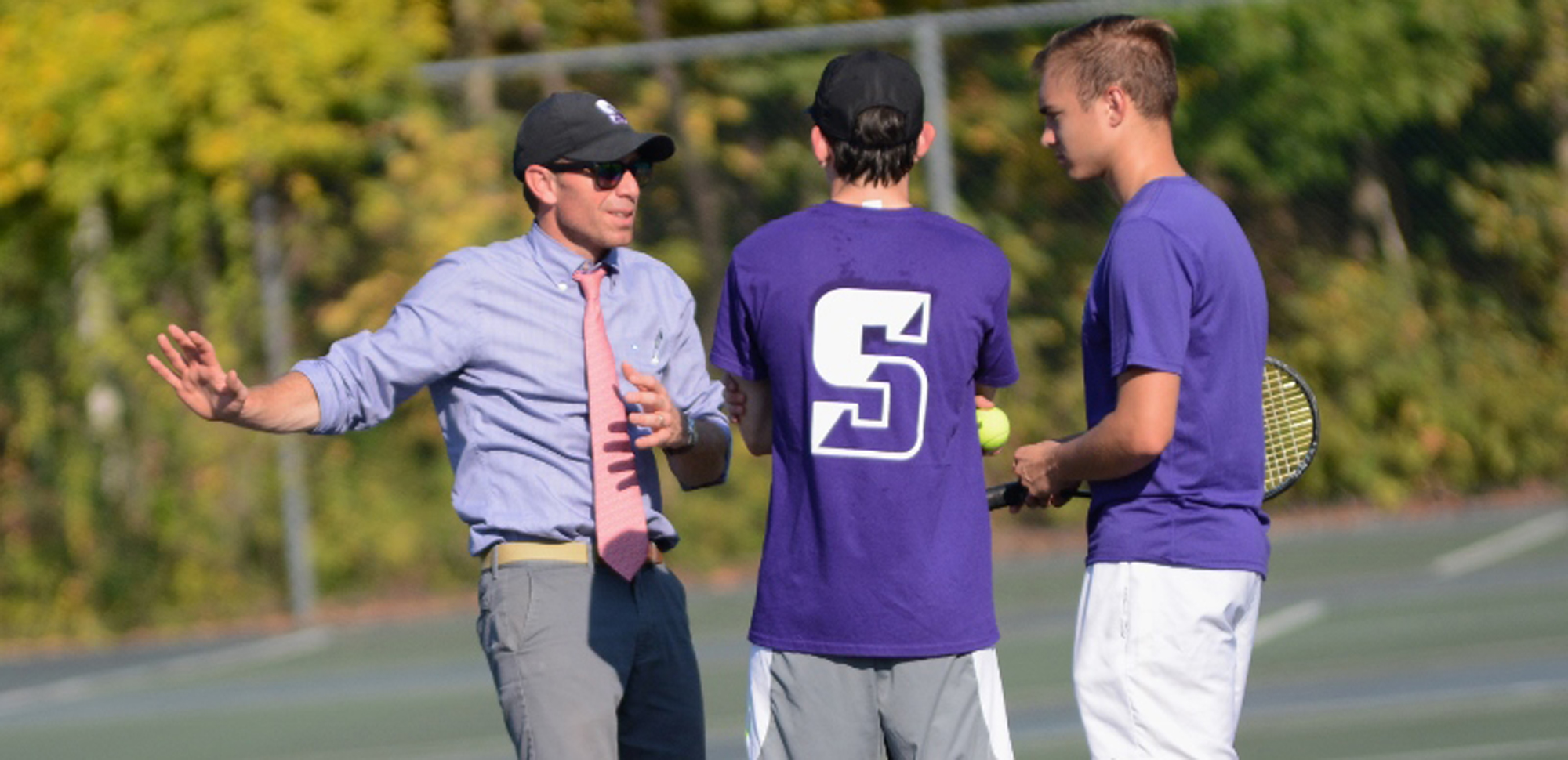 The men's tennis team moved closer to a Landmark Conference playoff berth with Wednesday's win over Drew.