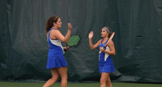 Women's Tennis Tops Simmons 9-0