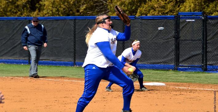 Perkins one-hitter helps Softball split with Concordia Chicago