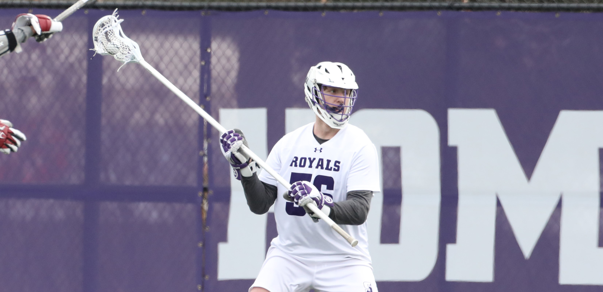 Junior Gordon Paul and the Scranton defense held Catholic to just one goal in the second half on Saturday as the Royals clinched a Landmark Conference playoff berth with a win over the Cardinals. © Photo by Timothy R. Dougherty / doubleeaglephotography.com