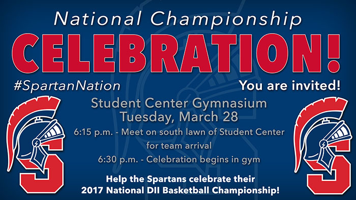 National Championship Celebration Tuesday