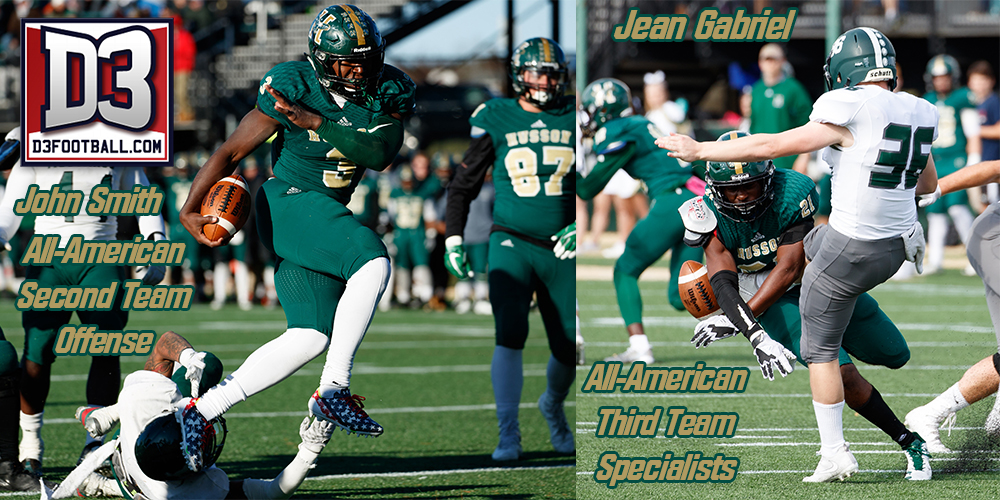 Smith and Gabriel Named to the 2017 D3football.com All-America Team