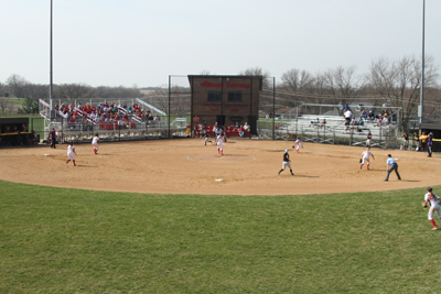 Softball doubleheader pushed back to Wednesday