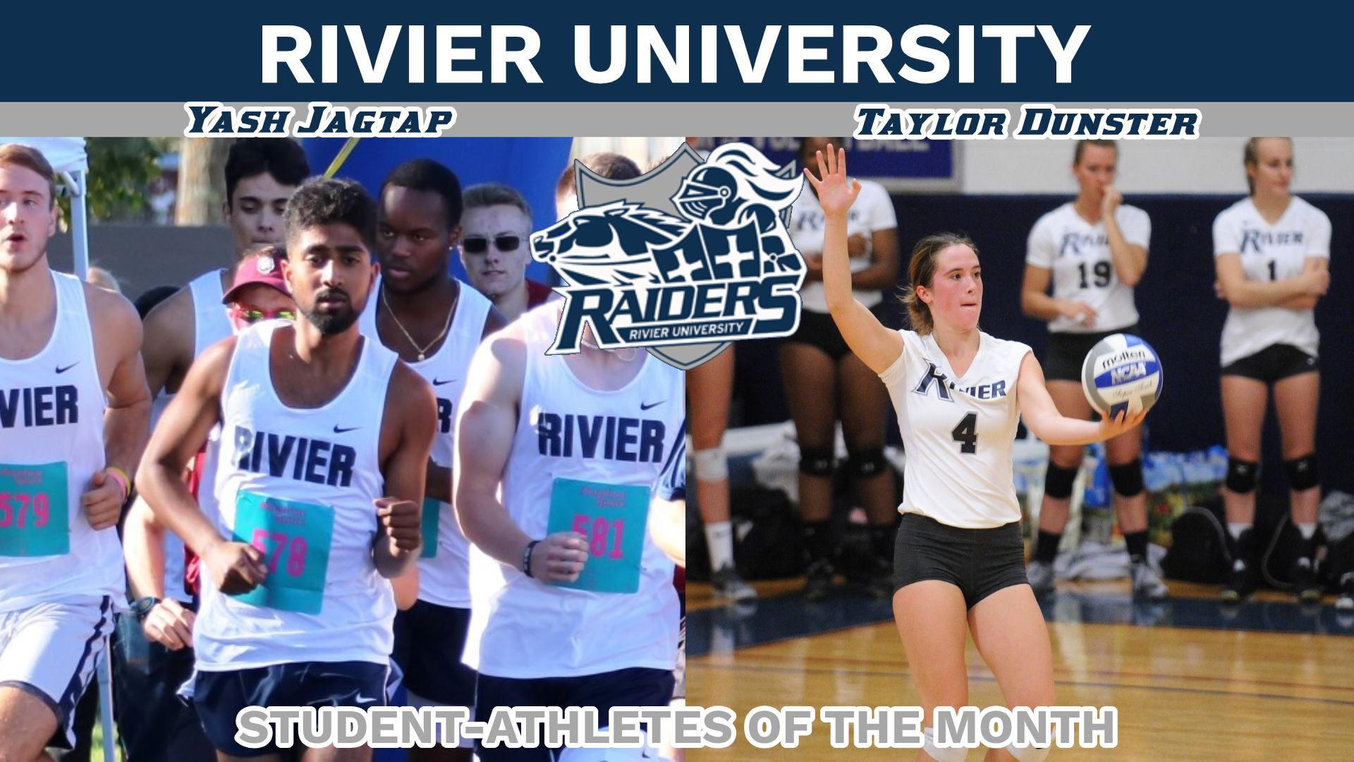 Dunster, Jagtap named Student-Athletes of the Month