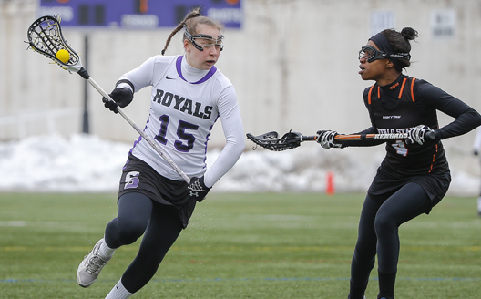 Senior midfielder Erin Allen had two goals and two assists in Saturday's home opener.