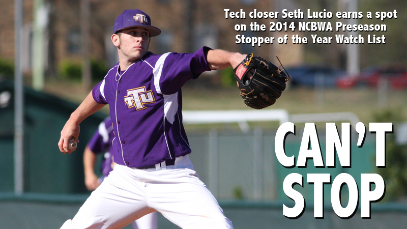 Lucio named to 2014 Preseason NCBWA Stopper of the Year Watch List