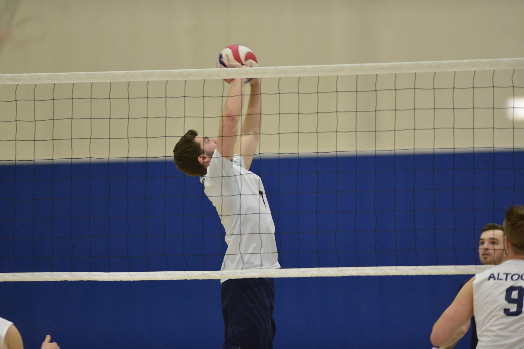 Men's Volleyball Splits Tri-Match; Defeats Thiel in Three