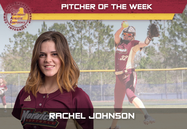 Rachel Johnson - Softball - GNAC Pitcher of the Week