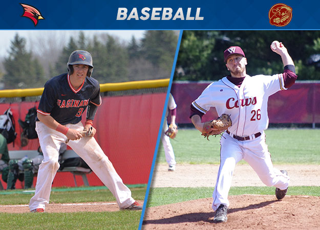 Saginaw Valley's Brooks, Walsh's Iosue Capture GLIAC Baseball Players of the Week Awards