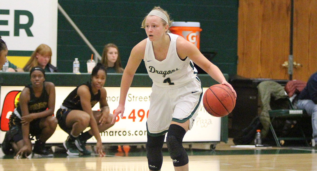 Jessica Chase led the Dragons with 11 points in a loss at Saginaw Valley State.