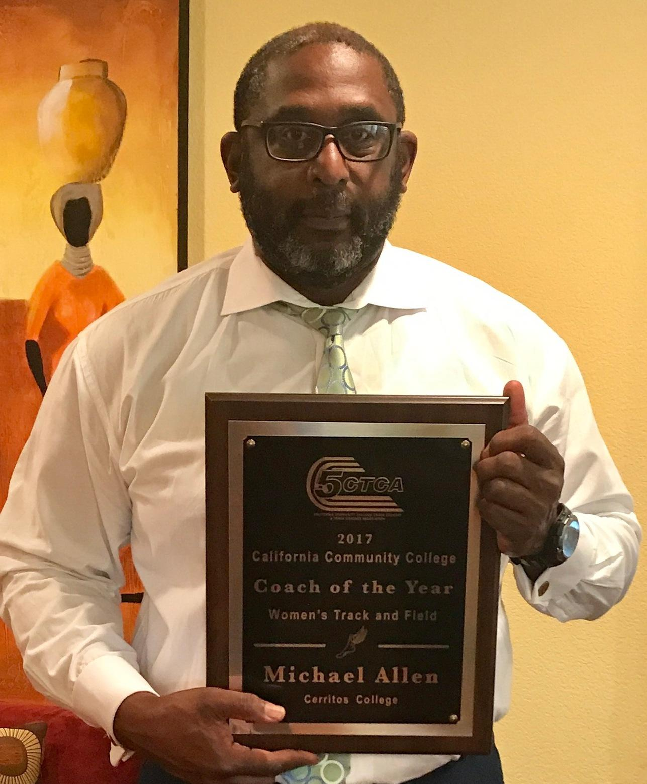 Women's Track & Field Coach Michael Allen named Coach of the Year