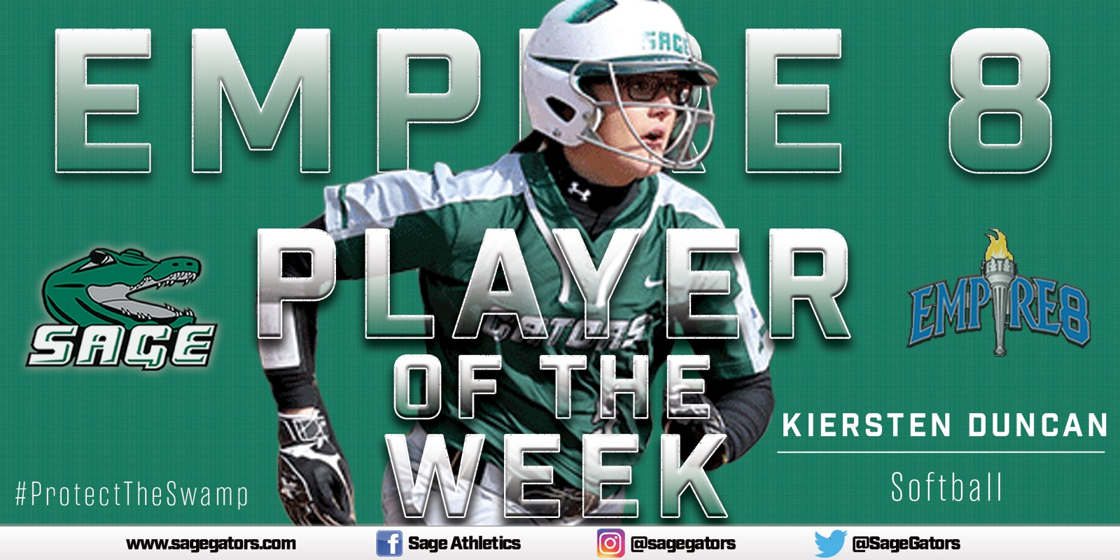 Duncan selected Empire 8 Softball Player of the Week