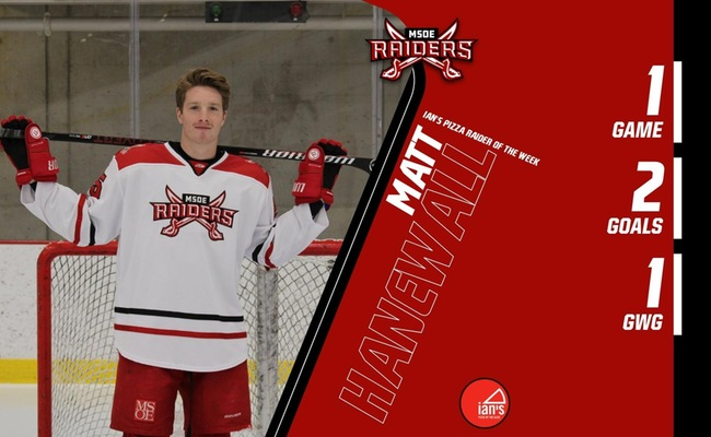 Hanewall Named Ian's Pizza Raider Of The Week