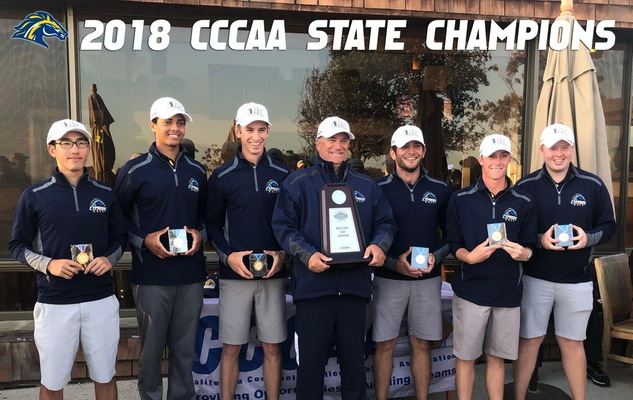 Men's Golf Captures 2018 CCCAA State Title; First in Program History