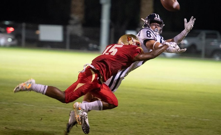 Cod Football Fights Hard In Loss To The Falcons 65 35 College Of
