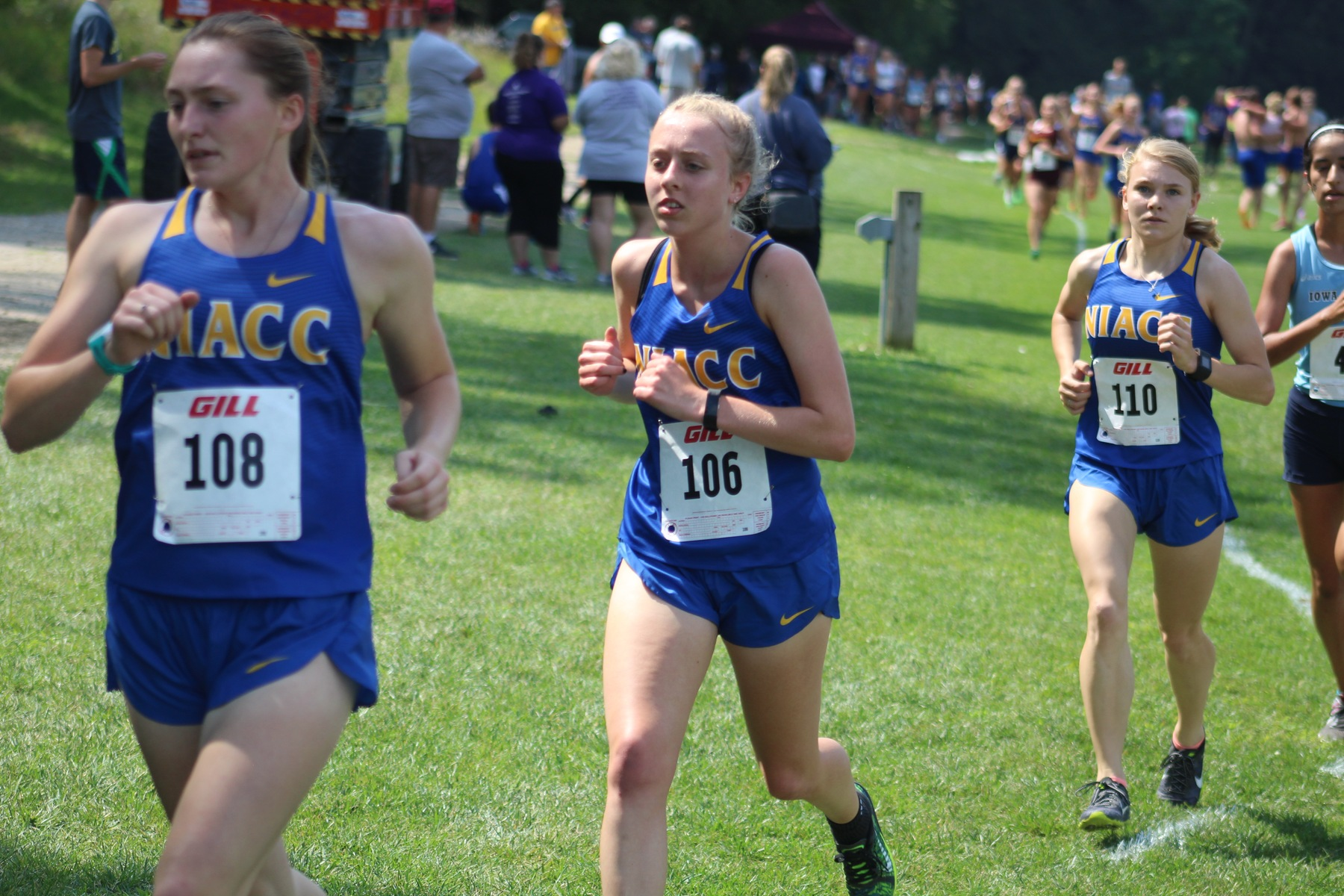 NIACC's Amy Fullerton (108) placed 16th at the regional time trial Saturday.