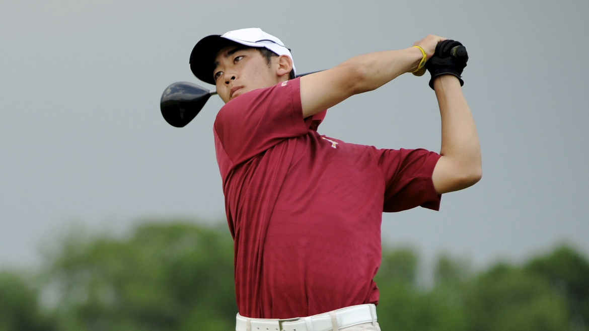 Tain Lee competing at the 2010 NCAA Championships  (courtesy NCAA Photos)