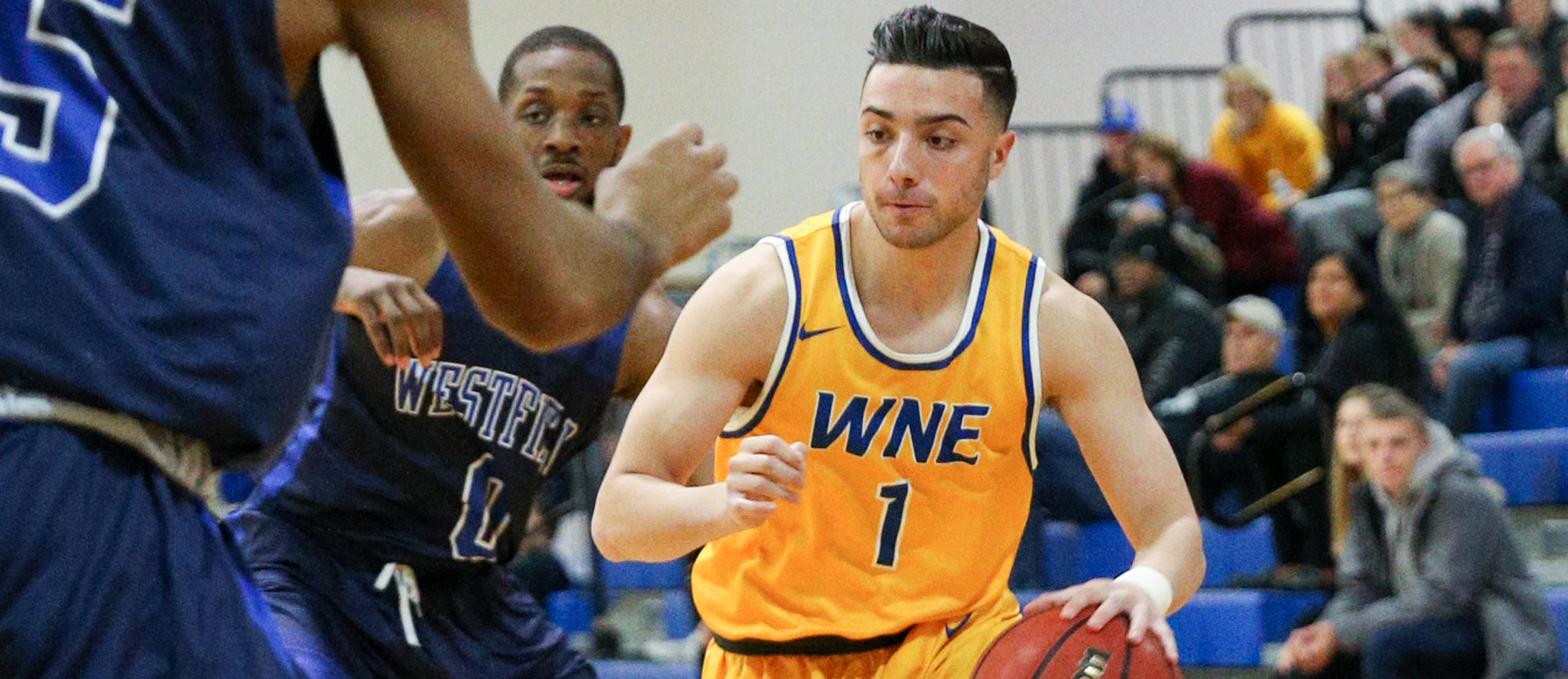 Nick DeGennaro scored a career-high 15 points in Western New England's 85-76 win over Salve Regina on Wednesday night. (Photo by Chris Marion)