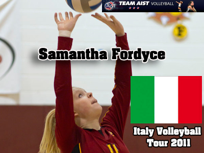 Samantha Fordyce will be spending 11 days this June in Italy playing volleyball and sightseeing.