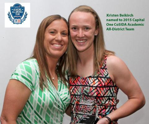 Beikirch named to 2015 Capital One CoSIDA Academic All-District Team for the third time in her career