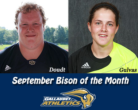 Doudt, Gulvas earn September Bison of the Month honors