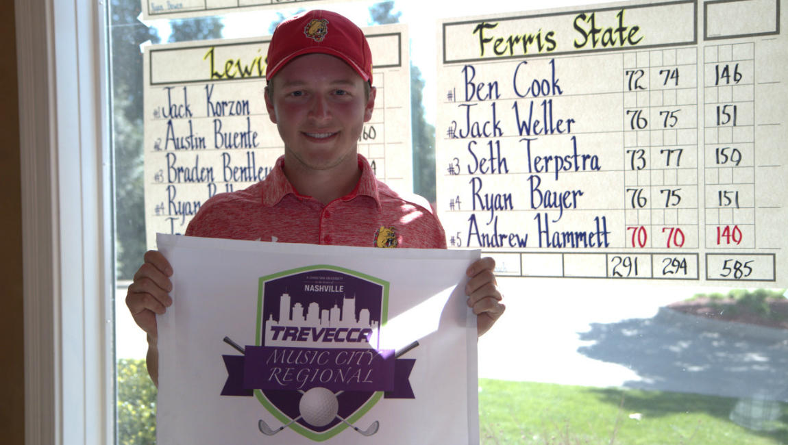Ferris State's Andrew Hammett Wins Medalist Honors As Bulldogs Place 6th At Music City Regional