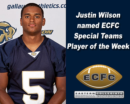 Justin Wilson named ECFC Special Teams Player of the Week