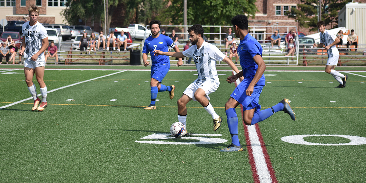 Evangel Men's Soccer Shutout at No.10 Baker