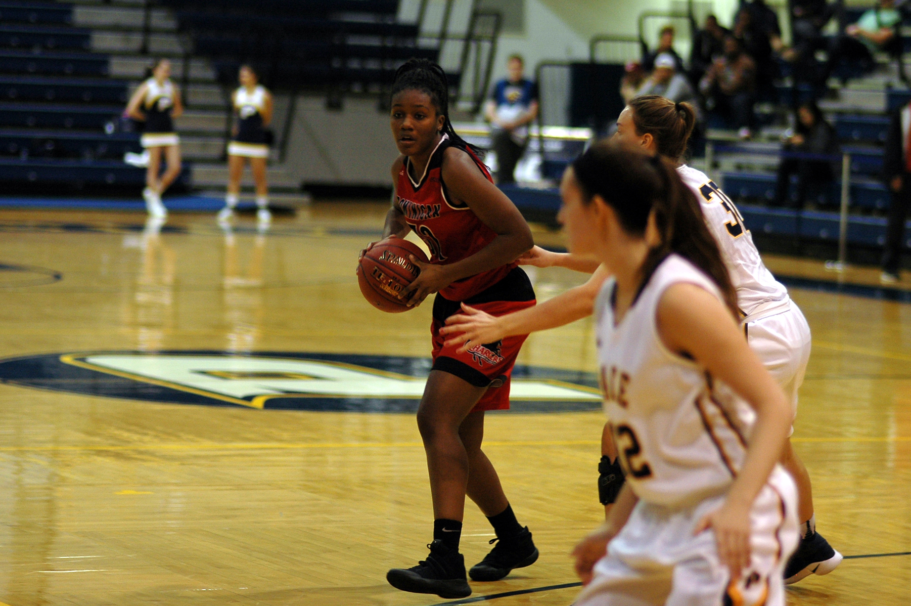Senior Stefani Alston who had a team best 10 rebounds this evening