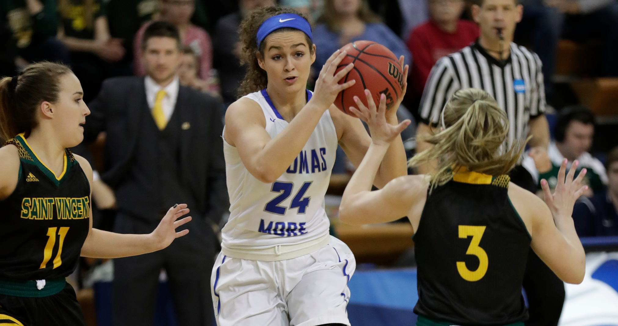 No. 1-Ranked Thomas More Defeats Saint Vincent, 79-54, in NCAA First Round