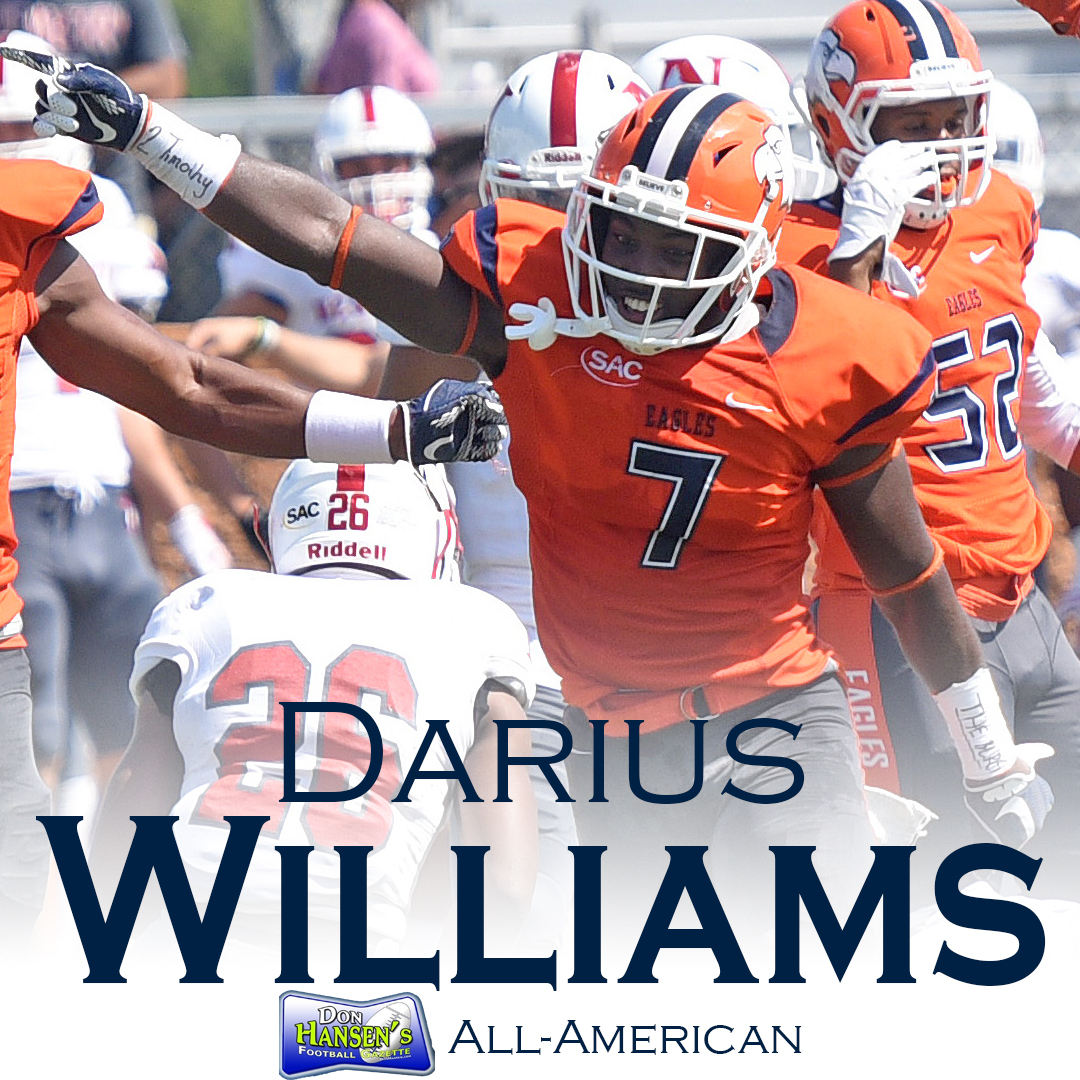 Williams becomes C-N football's 122nd All-American