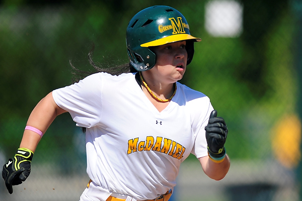 Amy Baumgardner wins the elimination game with Salisbury, hitting a walk-off grand slam � 2012 David Sinclair/McDaniel College