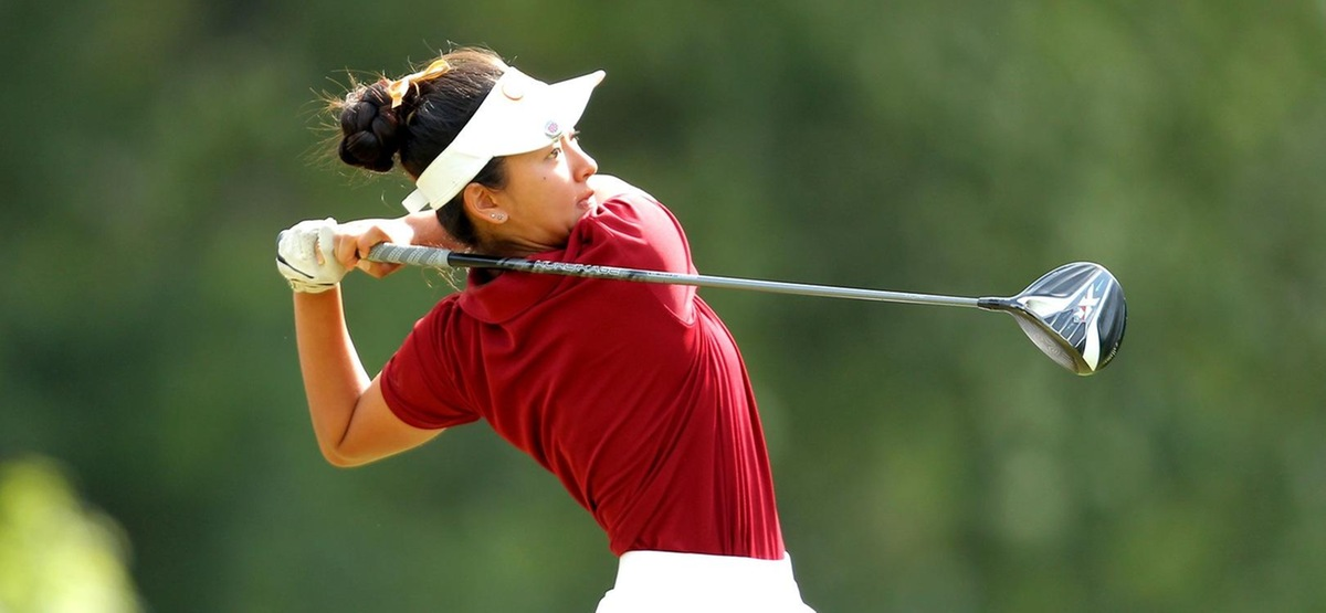 Amy Xue shot an even par 72 to finish fourth at her first NCAA Championship (photo by Erik Williams)