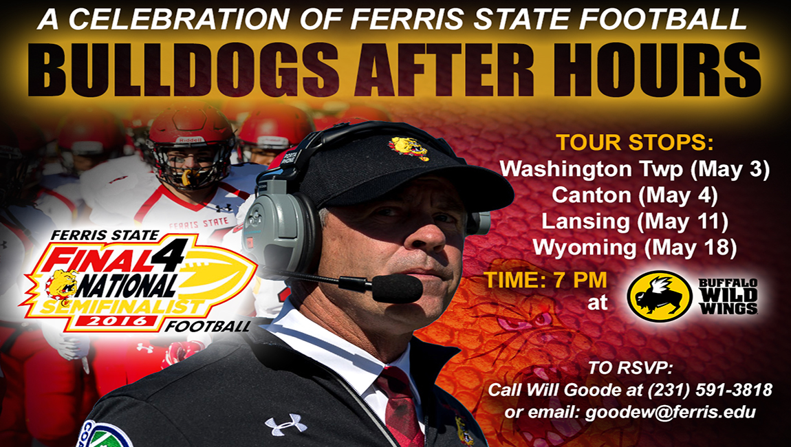 """Bulldogs After Hours"" Tour Across Michigan To Celebrate Ferris State Football Success"